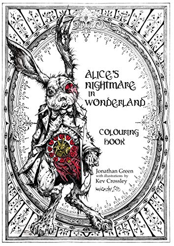 Alice's Nightmare in Wonderland Colouring - Coloring Book Tales Dragon