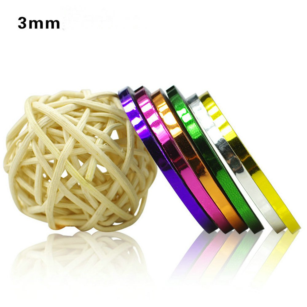 3mm Nail Striping Tape 10 Pcs Mixed Colors Rolls Striping Tape Line DIY Nail Art Tips Decoration Sticker Nail Care (mixed 10color) Guangzhou Sindy Comestic Co. Ltd ZX:NL3mm