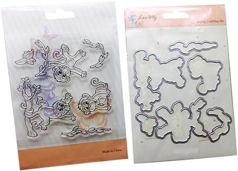 Metal DIY Crafts Dinosaur Clear Stamps Scrapbooking Stencils Cutting Dies