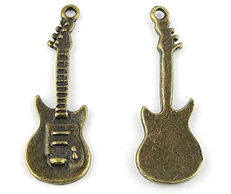 anti-brass Fashion Jewelry Making charms A1243 guitarra eléctrica ...