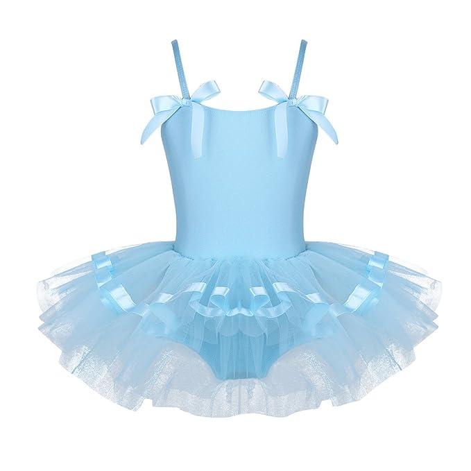 YiZYiF Maillot de Danza Ballet Niña Vestido de Fiesta Princesa Disfraces Tutú Ballet con Braga Interior
