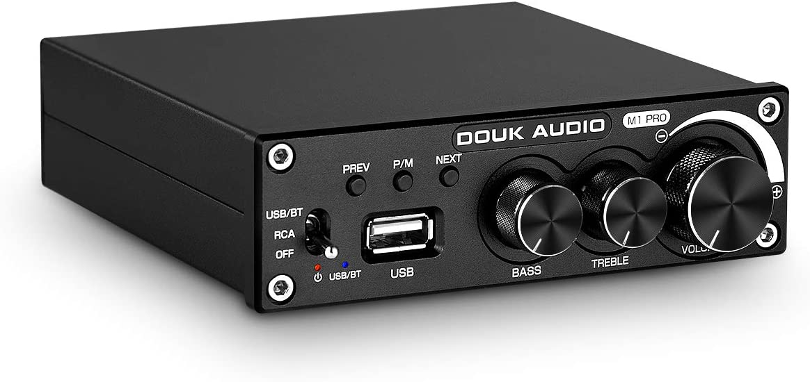 Douk Audio M1 Pro Hi-Fi 320W Bluetooth 5.0 Power Amplifier Stereo Subwoofer Amp USB Music Player