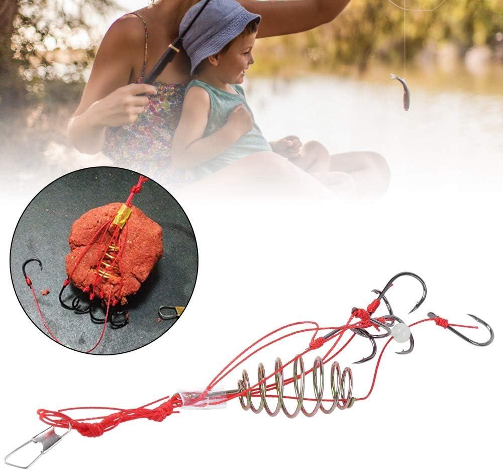 8 Unids Anzuelos de Pesca Ganchos Carpa Jaula Alimentador de Pescados Aparejos con Pesca Primavera Explosi/ón Ganchos de Pesca