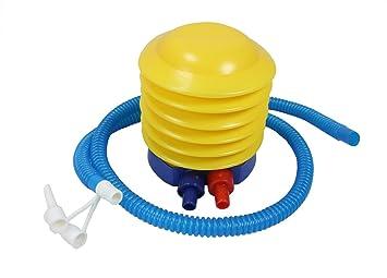 Obbomed PP-1010 Bomba de pie de fuelles de plástico - Deportes inflable y desinflable, yoga gimnasio ejercicio balón de mano Bomba
