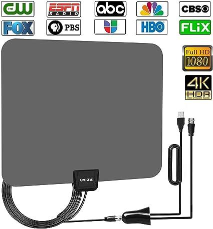 Amplified HD - Antena de TV Digital para Exteriores HDTV, Alcance ...