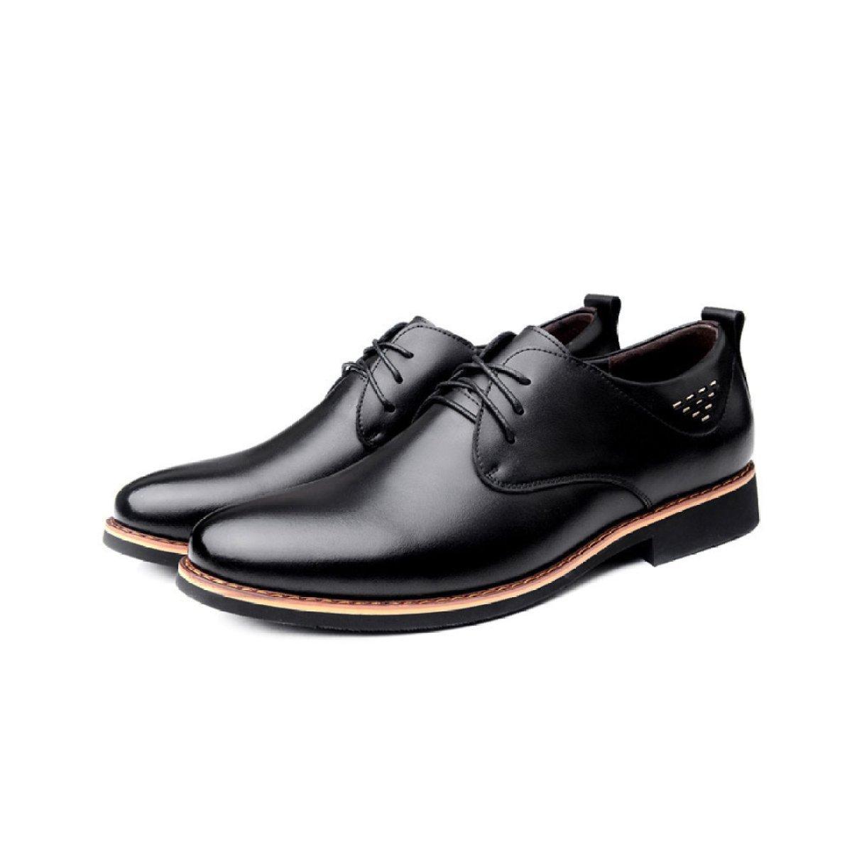 LYZGF Les Hommes De Printemps Et D'automne D'affaires Occasionnels Robe Respirante Chaussures De Mode,Black-39