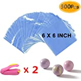 Newbested Shrink Wrap Bags 300pcs - 15 x 15 cm with Two Mini Heat Sealer Bags for Soaps Bath Bombs Handmade Soaps and DIY Crafts.