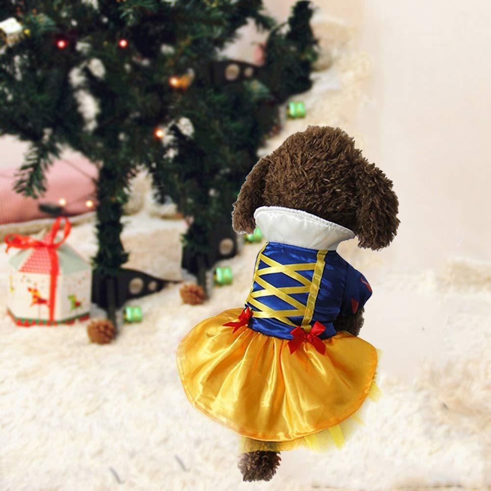 Abbigliamento per Feste Vestito da Principessa di Natale Natale Halloween Biancaneve Kanghua Costume per Cane Eventi Speciali