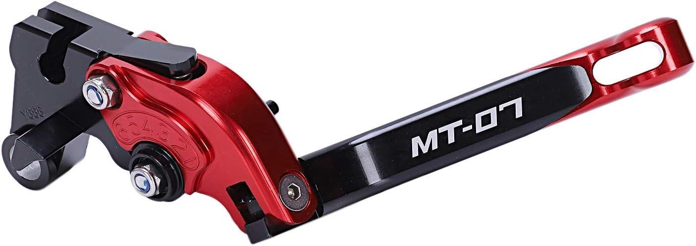 Nrpfell Motorrad Zubeh?r Aluminium CNC Faltbare Erweiterbare Brems Kupplungs Hebel f/ür Mt-07 Mt 07 Fz-07 Fz 07 2014-2018 Rot