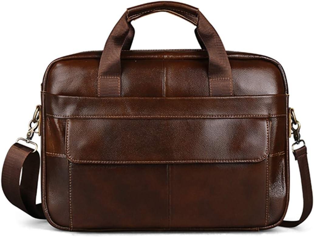 Wax Leather Men Business Briefcase Handbags Crossbody Bags Mens Travel Laptop Shoulder Bag Buckle
