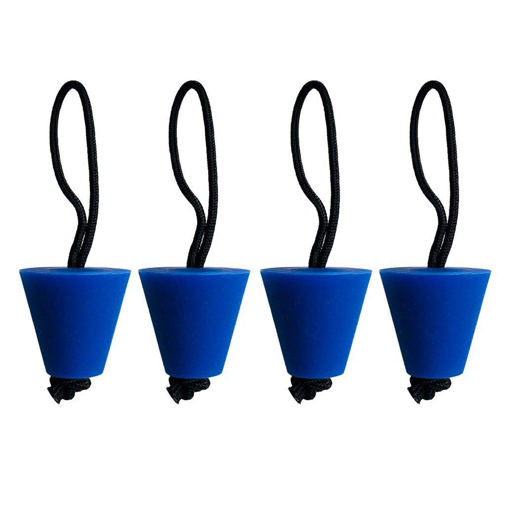 EBTOYS カヤック スカルパー プラグ キット カヌー ドレインホール ストッパー 栓 フィット ユニバーサル カヤック 4個 - ブルー   B07DNG6PWD
