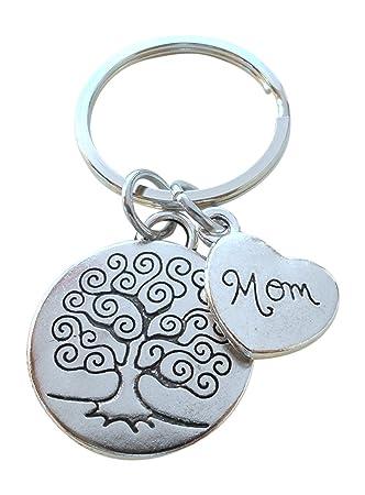 Amazon.com: Mom Árbol Llavero para mamá, día de la Madre ...