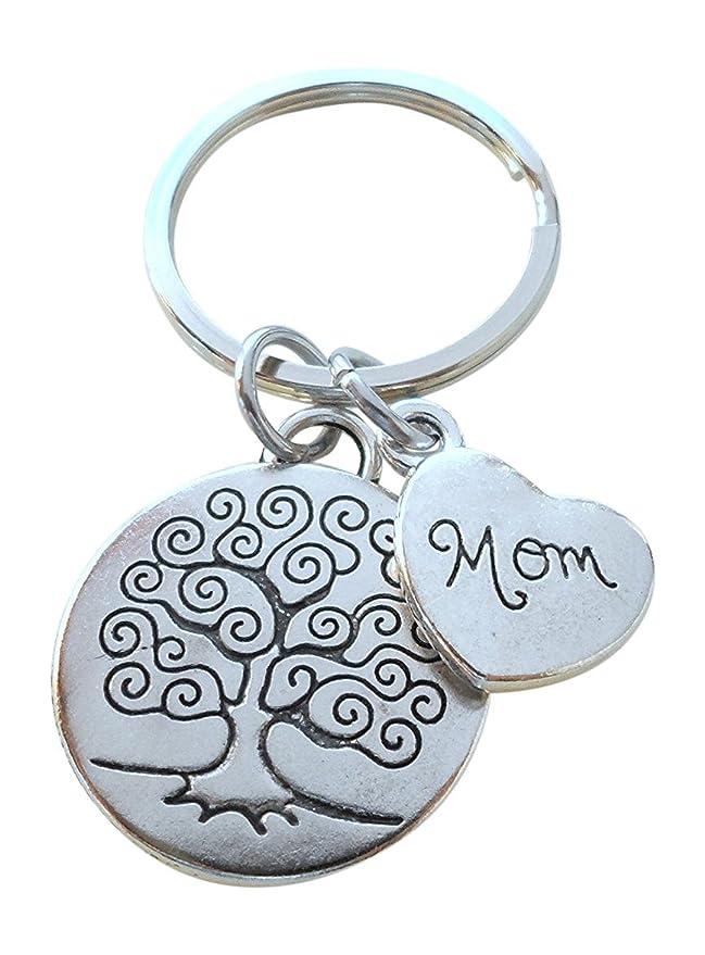 JewelryEveryday Llavero de /árbol geneal/ógico para mam/á regalo para la madre