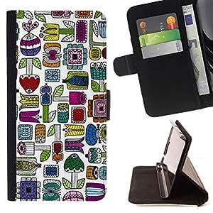 Momo Phone Case / Flip Funda de Cuero Case Cover - Hand Drawn minimalista colorido - MOTOROLA MOTO X PLAY XT1562