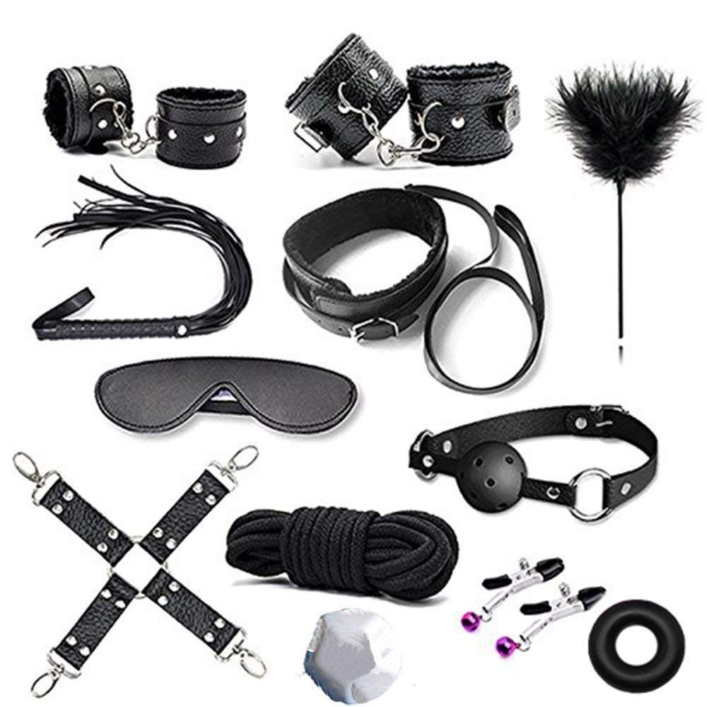 Handcuffs for Under bed restraint Kit Bondage Bondageromance Fetish Sex Play BDSM SM Restraining Straps Thigh Game Tie up Mattress Harness Things Blindfold Whips Toys Adults Women Men Couples by ALUTT