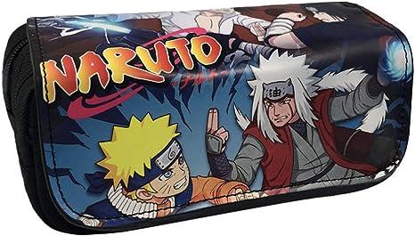 Koupany Estuche Escolar Anime Naruto Lápiz Estuche Monedero Lienzo Doble Pared Gran Capacidad Zip Estuche Estuche Lápiz Monedero: Amazon.es: Deportes y aire libre