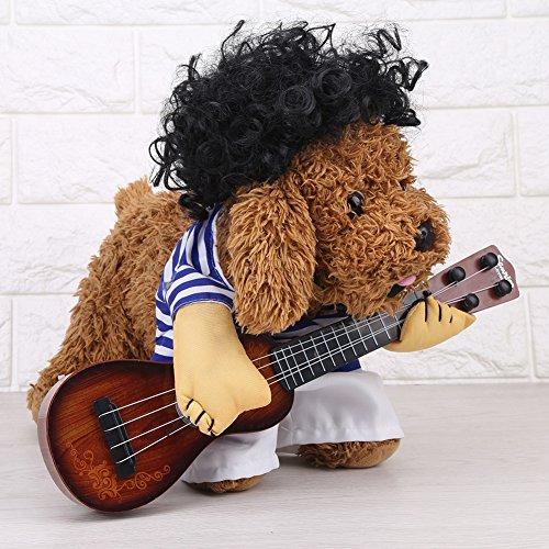 Pet Costume-Dog Cat Costume for Women/Men Funny Guitarist Style Costume Pet Suit in Premium Cotton(XL) -