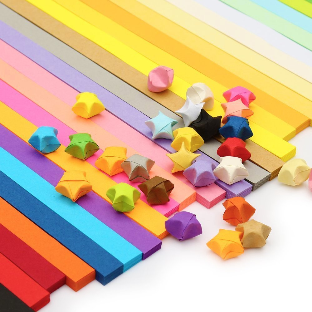 AxeSickle 1080 sheets Sided Origami, Stars Paper, DIY Paper Folding Strips,Decoration Paper Strips - 27 Colors,Festival gift. Axe Sickle 4336881506