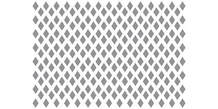 Decoración Stencil parrilla - diseño de diamantes: Amazon.es ...
