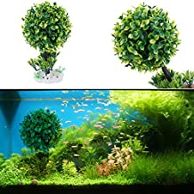 Embiofuels(TM) Artificial Aquatic Plants Tree Aquarium Fish Tank Ornaments Water Grass Decor Landscape Aquarium Decoration Ornament[ Green ]