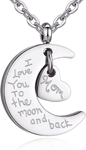 Love You To The Moon sterling silver heart charm or pendant Add to your necklace or bracelet.