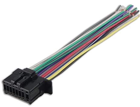 61ocvmgExiL._SX463_ amazon com audiobaxics pioneer 16 pin radio wire harness automotive Pioneer Wiring Harness Color Code at alyssarenee.co