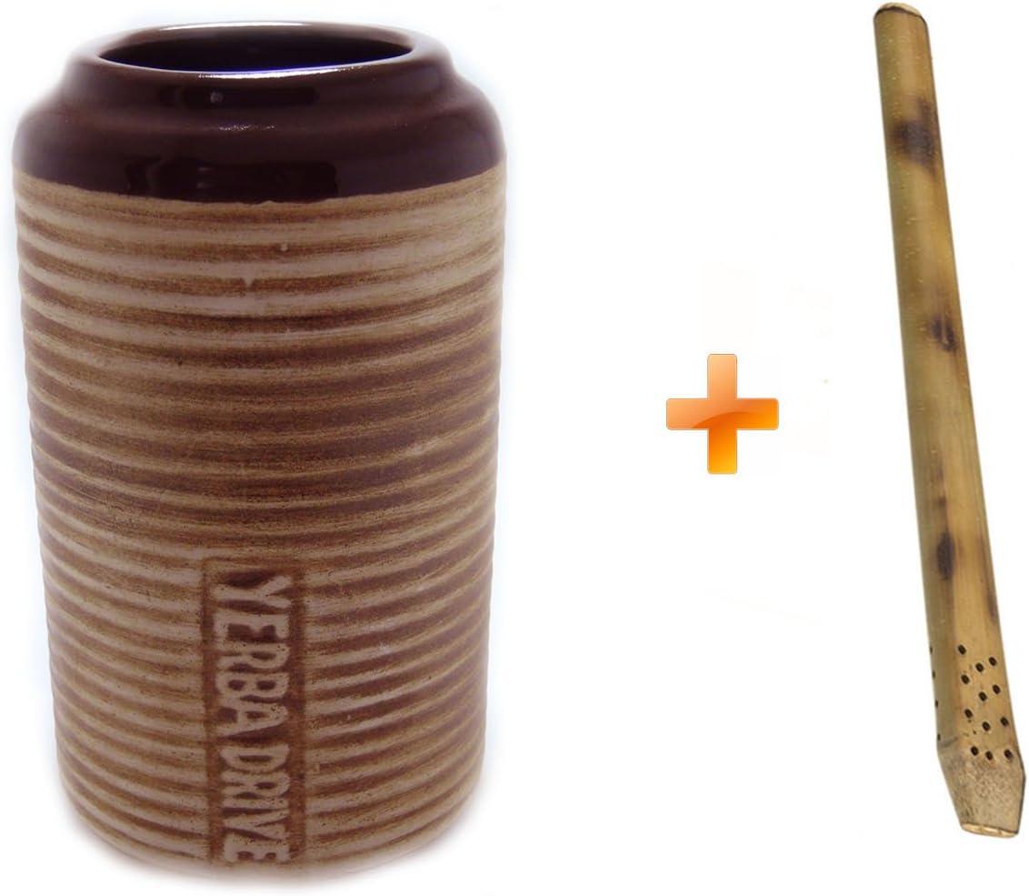 Cer/ámica para Auto Soporte para bebidas Bombilla bamb/ú