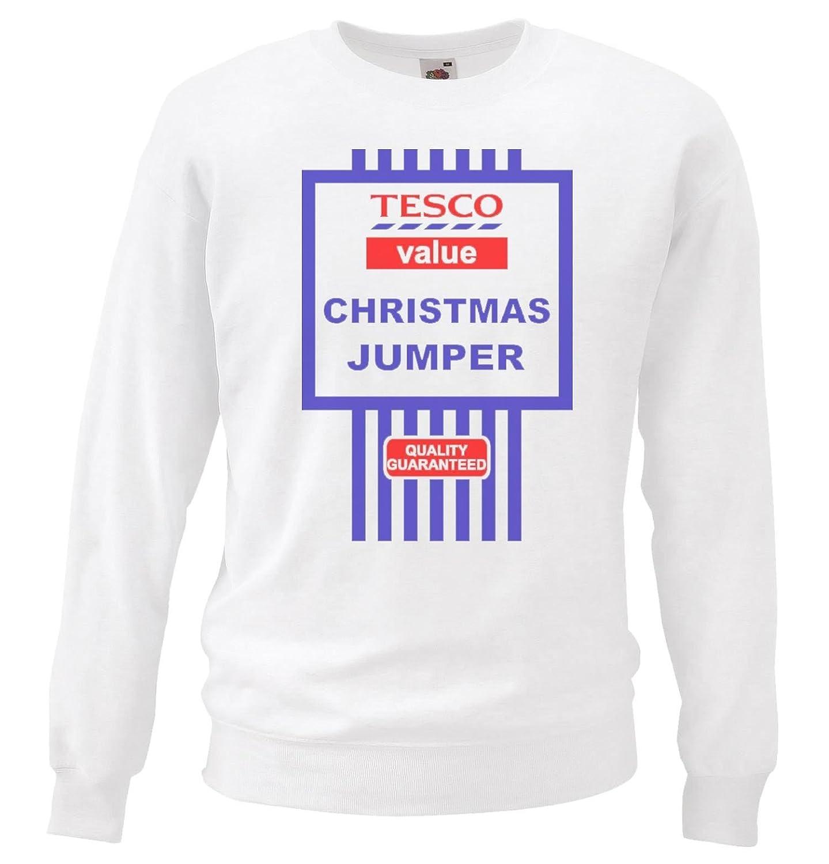 Grey or White Tesco\'s Funny Value Christmas Jumper Tesco Black ...