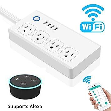 amazon com wifi smart power strip goxmgo surge protector with 4 rh amazon com