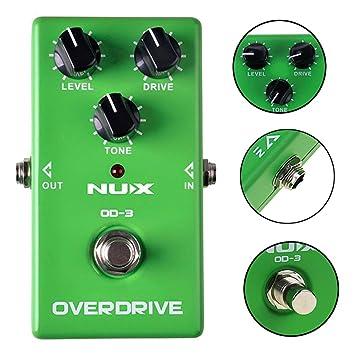 YGQersh Guitarra eléctrica OD-3 True Bypass Overdrive Pedal de efecto de distorsión Pedal - Verde: Amazon.es: Instrumentos musicales