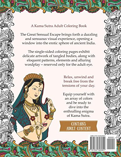 Amazon The Great Sensual Escape A Kama Sutra Adult Coloring Book 9781530828951 Lia Angelo Books