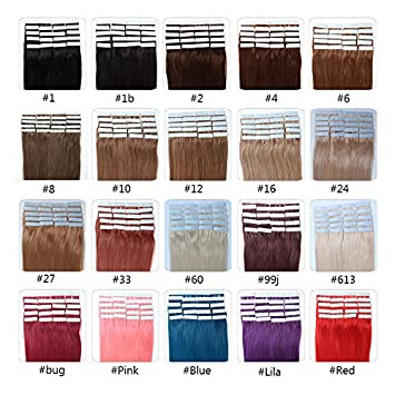 Amazon fabwigs tape in human hair extensions 16 18 20 22 fabwigs tape in human hair extensions 16 18 20 22 24 inch 20pcs 30g pmusecretfo Gallery