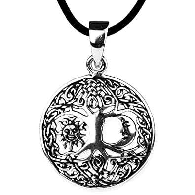 Anhänger Baum Des Lebens Keltischer Lebensbaum Weltenbaum 925er