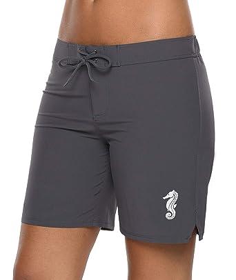 aa55725134 beautyin Beach Trunks for Womens Swim Board Shorts Swimming Bottom Swimwear  M