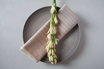 6 Servilletas Textiles Beige