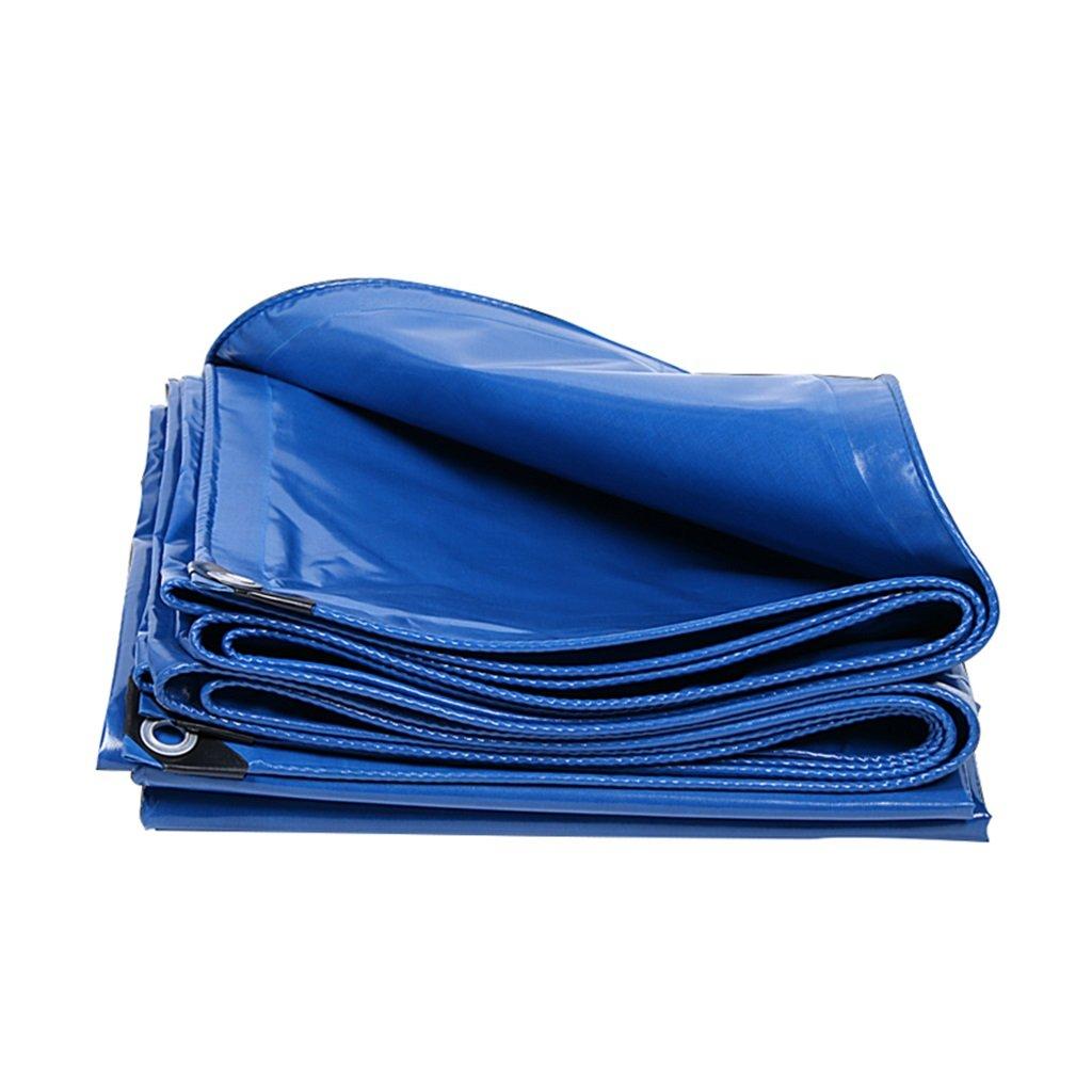 Teloni Tenda Tela Canapa Parasole Parasole Parasole in Poncho Famiglia Camping Giardino Esterno, Spessore 0.4mm, 400g   m2, 13 Opzioni di Formato, Blu (Dimensioni   3  6)