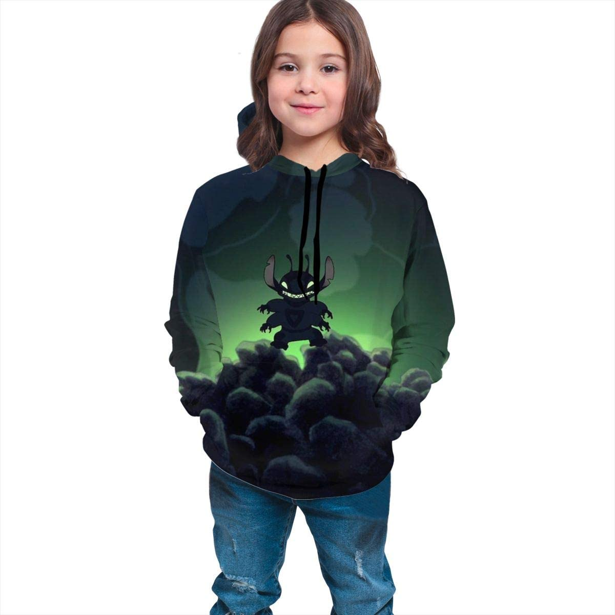 ZISIXI S-Titch Unisex Youth Casual Hooded Teens Long Sleeve Pullover Hoodie Sweatshirts for Kids Boys and Girls