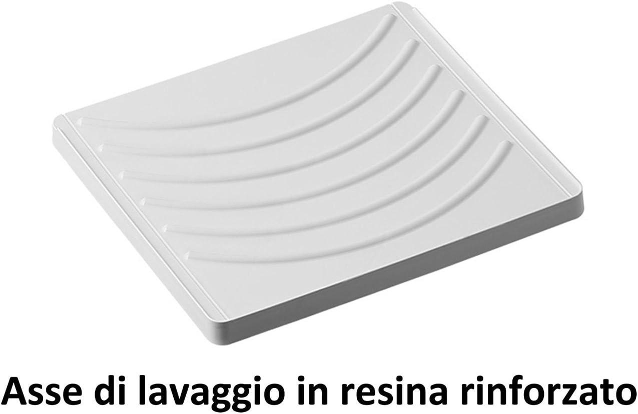 blanco 109 x 60 x 89 cm resina Cubrelavadora y lavabo reversible