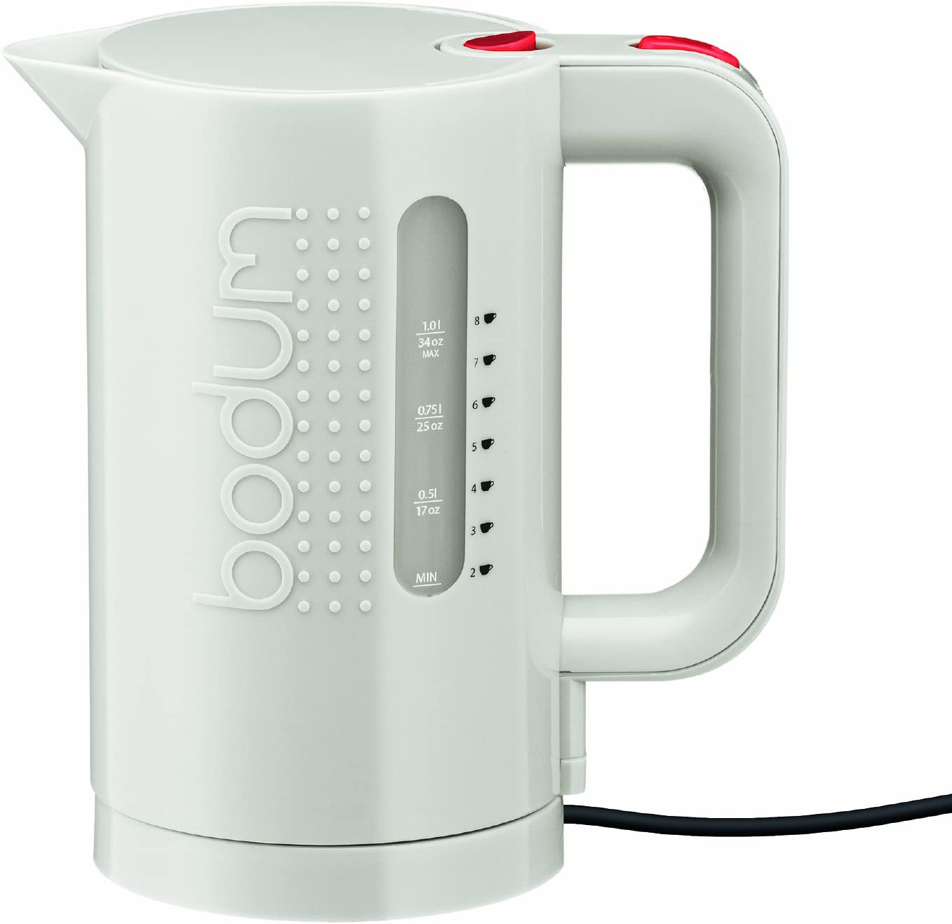 Amazon Com Bodum Bistro Electric Water Kettle 34 Ounce White Kitchen Dining