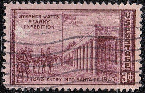 1946 Us Postage Stamps 3c Brown Violet General Kearny