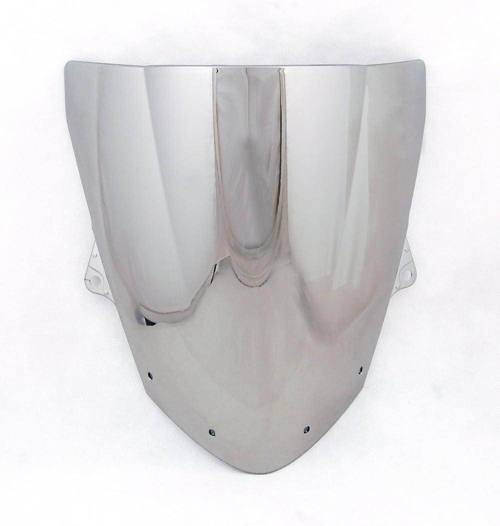 Sport Windschutzscheibe mit ABS Aerodynamik Design f/ür Ka-wa-sa-ki ZX6R 2009-2014 ZX10R 2008-2010 Topteng Motorrad Windschutzscheibe