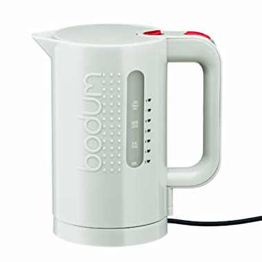 Bodum 11452-913US BISTRO Water Kettle, Electric Water Kettle, White, 34 Ounce