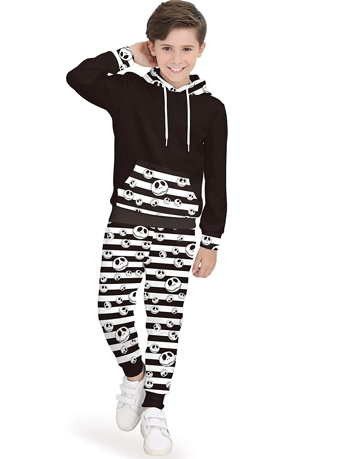 BesserBay Unisex Kids' Halloween Costume Hoodie Pants Set Front Pocket Pullover