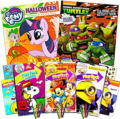 - Amazon.com: Disney Halloween Coloring Book Super Set For Kids Toddlers -- 3  Books Featuring Minnie Mouse, Mickey Mouse, My Little Pony And More  (Includes Crayons And Stickers): Office Products