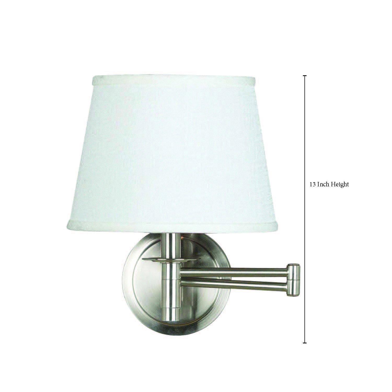 Kenroy Home BS Sheppard Wall Swing Arm Lamp Brushed Steel