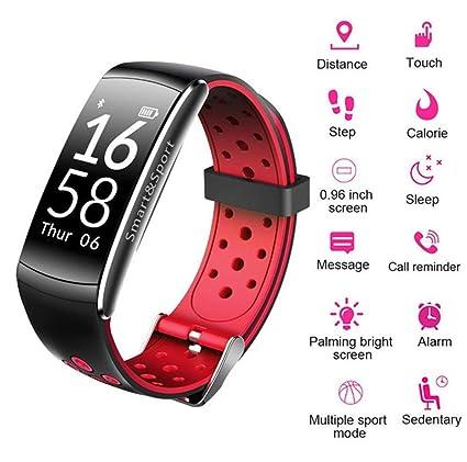 Reloj Con Pulsera Inteligente Bluetooth, IP68 A Prueba De Agua, Monitor De Ritmo Cardíaco
