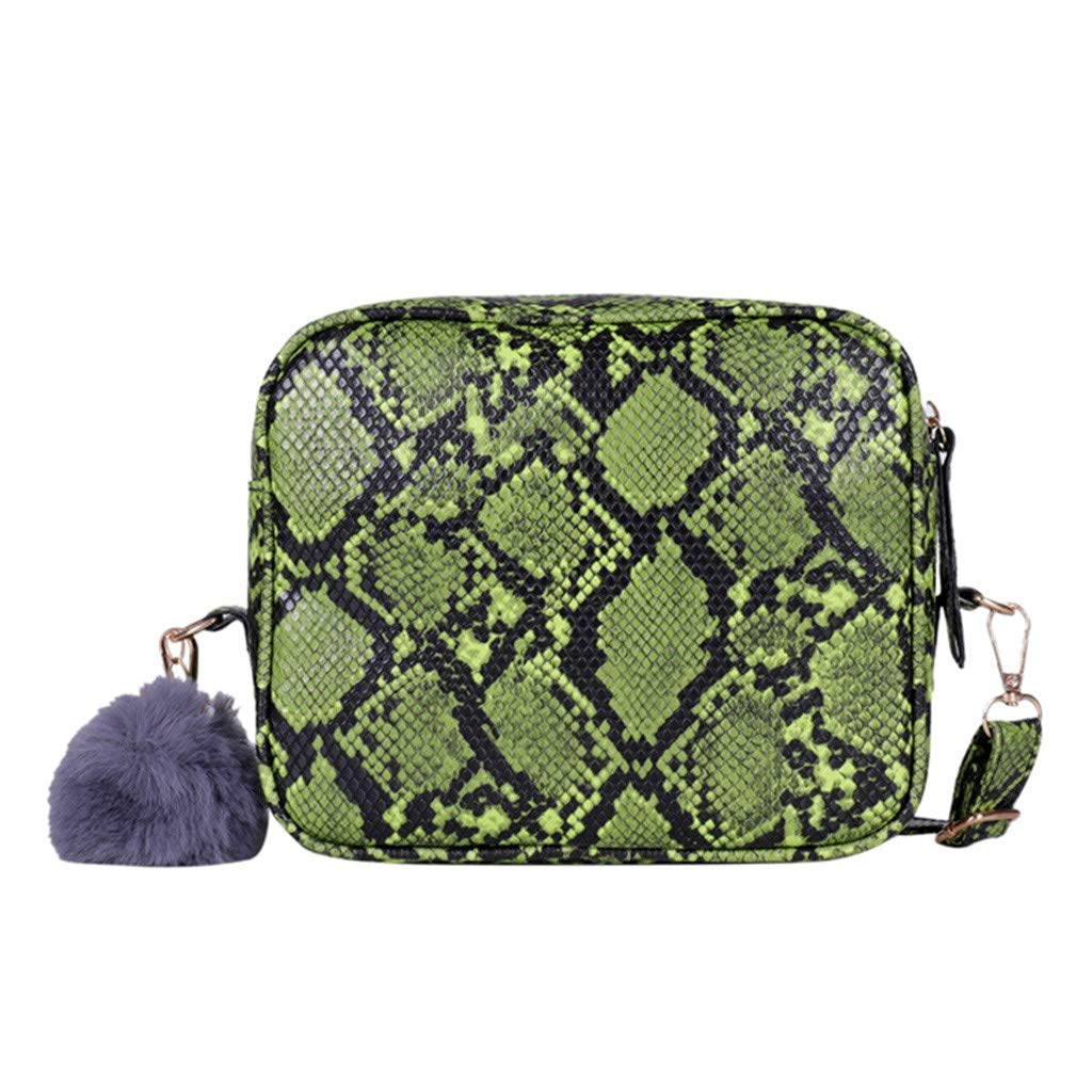 AMOUSTORE Snakeskin Crossbody Bag Mini Purse for Women Girls Cute Shoulder Bag Green by AMOUSTORE