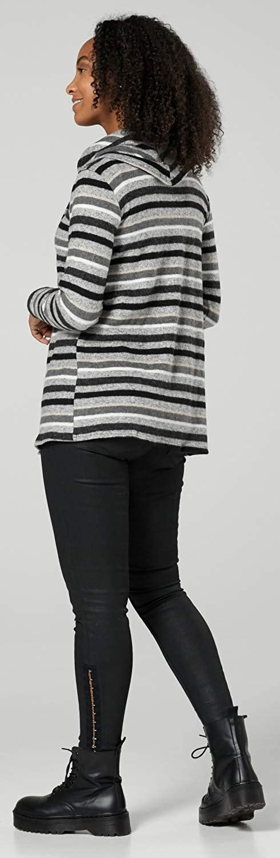 HAPPY MAMA Damen Mutterschaft Gestreift Sweatshirt /& Hemd 2er Set 1160