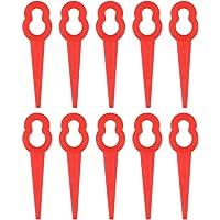 BESTOMZ 50pcs cuchillas de plástico hierba cuchillas desbrozadoras cuchillas de repuesto (rojo)