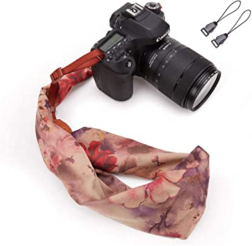 Wolven Soft Scarf Camera Neck Shoulder Strap Belt Compatible with All DSLR//SLR//Digital Camera Yellow DC //Instant Camera//Nikon//Canon//Sony//Olympus//Leica//Fujifilm Etc